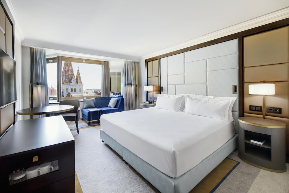 Hilton Hotels Budapest room interior
