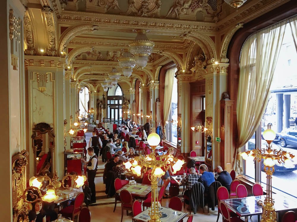 Interior of the New York Cafe at New York Palace Hotel in budapest