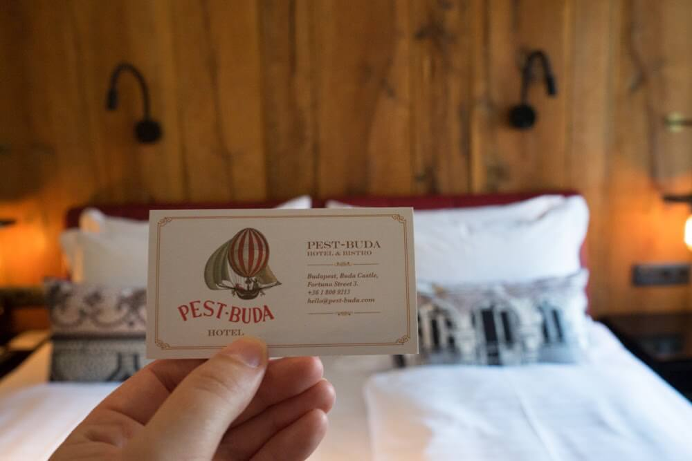 Pest Buda Hotel Location Budapest Image of Business Card