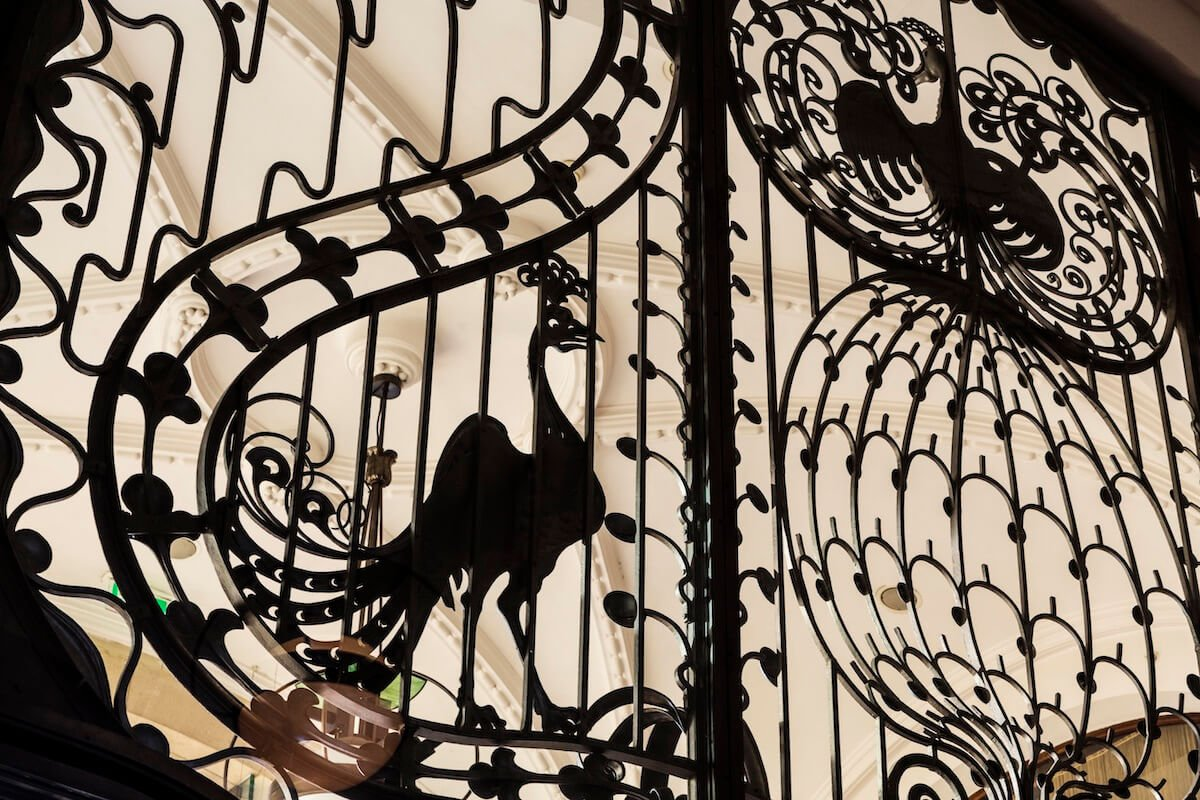 Ironwork gate at Four Seasons Budapest Luxury Hotel