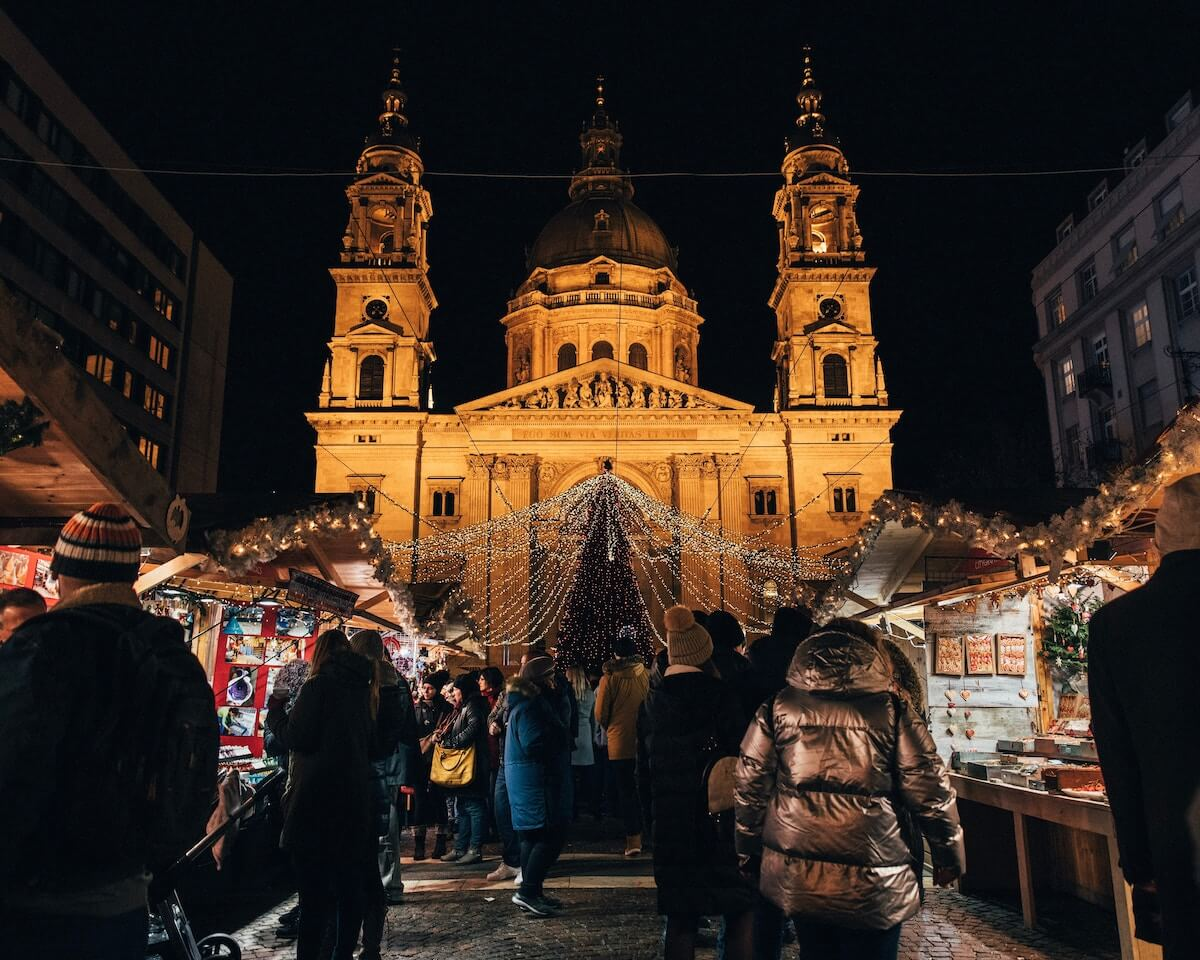 St Stephens Christmas Market Budapest